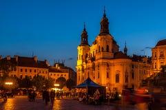 городок квадрата республики prague лошади экипажа чехословакский нарисованный старый Стоковые Фото