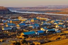 Городок китайско-русской границы Стоковая Фотография