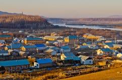 Городок китайско-русской границы Стоковая Фотография RF