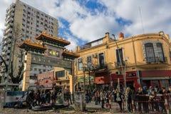 Городок Китая в районе Belgrano, Буэносе-Айрес, Аргентине стоковое фото rf