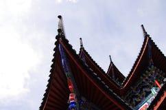 Городок Китая - крыши Lijiang Стоковое Изображение
