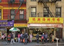 Городок Китая, Манхаттан, Нью-Йорк Стоковое Фото