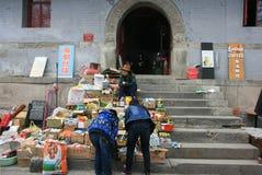 Городок Китая старый стоковое изображение