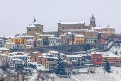 Городок Ла Morra в зиме Стоковые Изображения RF