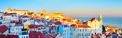 Городок Лиссабона старый, Португалия Стоковые Изображения RF