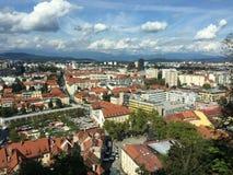 Городок Любляны Стоковое фото RF
