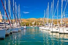 Городок Марины Trogir и взгляда архитектуры Стоковая Фотография RF