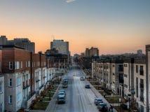 Городок Монреаля стоковые изображения rf