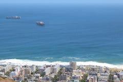 городок моря пункта плащи-накидк Африки южный Стоковое фото RF
