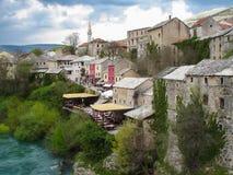 Городок Мостара старый, Босния и Герцеговина Стоковое Изображение