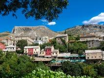 Городок Мостара старый в Босния и Герцеговина Стоковая Фотография