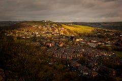 Городок на сельской местности холма Стоковая Фотография RF