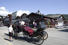 Городок немца Leavenworth Стоковые Фотографии RF