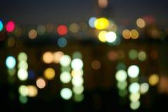 городок ночи Стоковая Фотография RF