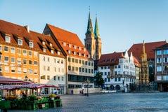 Городок Нюрнберга в Германии Стоковое фото RF