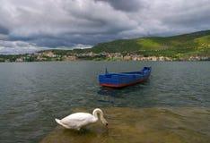 Городок озера кастории и кастории, в Греции - 3 Стоковая Фотография RF