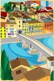 Городок Оld Стоковая Фотография RF