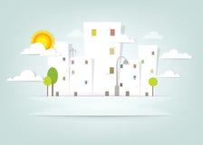 Городок панорамы. знамя вектора Стоковые Фото