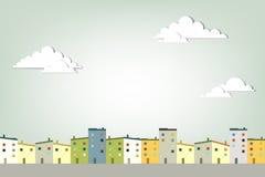 Городок панорамы Стоковые Изображения RF