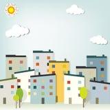 Городок панорамы Стоковое Фото