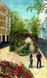 городок переулка старый Стоковые Изображения RF