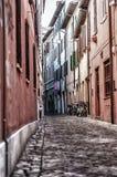 городок переулка старый Стоковое фото RF