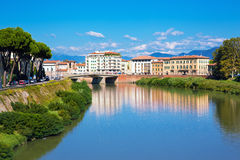Городок Пизы, Италия стоковые изображения rf