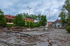 Городок после потоков Стоковое Фото