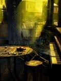 Городок призрака западный иллюстрация штока