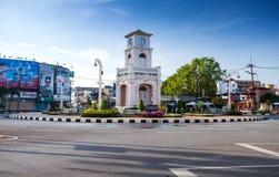 Городок Пхукета башни с часами старый Стоковые Фото