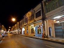 городок Пхукет ночи Стоковое фото RF