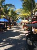 Городок пляжа стоковые фотографии rf