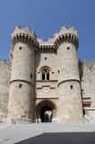 Городок Родоса старый, дворец гроссмейстеров Греция Стоковое Изображение RF