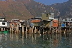 Городок рыбной ловли Tai o в Lantau, Гонконге Стоковое фото RF