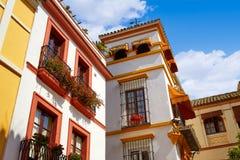 Городок Севильи старый около st Испании Vida Agua calle Стоковое Изображение