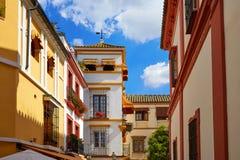 Городок Севильи старый около st Испании Vida Agua calle Стоковая Фотография RF