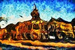 Городок сказки отголоска Стоковая Фотография RF