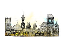 Городок сказки стоковые фото