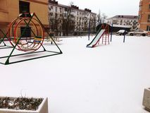Городок снега стоковая фотография