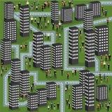 Городок с людьми Стоковые Изображения RF