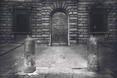 Городок Тосканы в черно-белом Стоковое Изображение RF