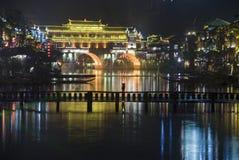 Городок Феникса на ноче Стоковые Изображения RF
