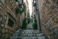 городок Хорватии dubrovnik старый Внутри города, взгляды улиц a стоковое фото