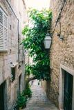 городок Хорватии dubrovnik старый Внутри города, взгляды улиц a стоковые фотографии rf