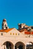 городок Хорватии dubrovnik старый Внутри города, взгляды улиц a стоковые фото