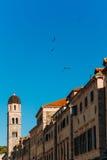 городок Хорватии dubrovnik старый Внутри города, взгляды улиц a стоковое фото rf