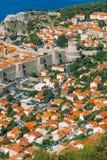 городок Хорватии dubrovnik старый Внутри города, взгляды улиц a стоковое изображение