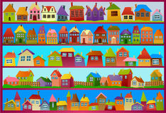 Городок шаржа Стоковое Фото