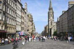 Городок Эдинбурга королевской мили старый Стоковые Изображения