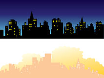 городок 3 предпосылок Стоковое Изображение RF